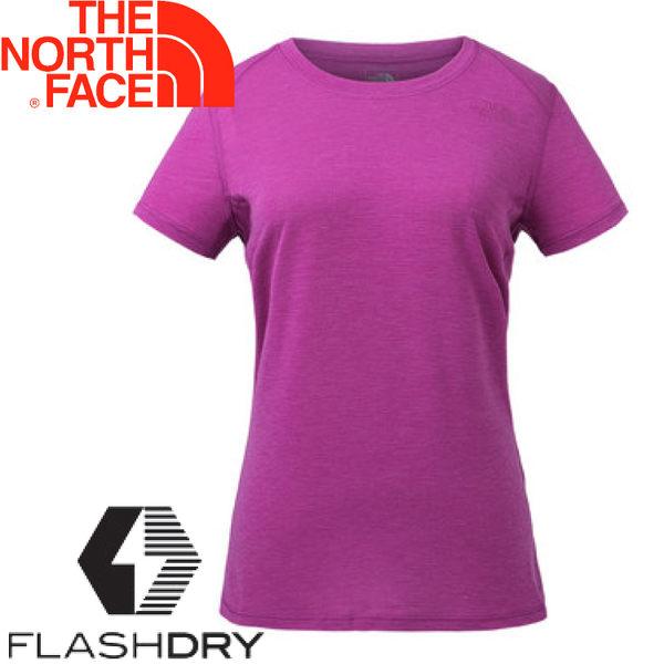 【The North Face 女 排汗短T《紫》】3GDW/排汗衣/短袖快排衫★滿額送