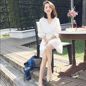 洋裝 春夏新款女裝韓版小清新女生裙子顯瘦仙女裙蕾絲連身裙