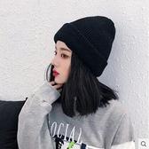毛線帽女韓版保暖加厚兔毛堆堆針織帽男韓國休閒百搭帽子女冬天潮 - 風尚3C