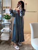 睡裙女冬珊瑚絨長款加厚保暖韓版睡袍法蘭絨長袖性感睡衣女秋冬季 依凡卡時尚
