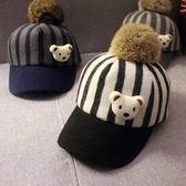 兒童帽子秋冬天男童鴨舌帽正韓潮女童1-4歲寶寶毛呢帽小孩馬術帽