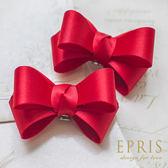 韓國直送-紅色緞面蝴蝶結鞋扣鞋夾配飾
