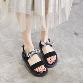 復古涼鞋女夏季學生平底新品大尺碼甜美厚底沙灘鞋 【萬聖節八五折鉅惠】