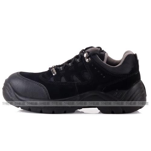 男款 凱欣 U-312 黑色 綁帶真皮鋼頭休閒鞋 安全鞋 工作鞋 乳膠鞋墊 59鞋廊
