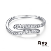 蘇菲亞SOPHIA - 簡約流線14K鑽石戒指