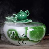 陶瓷魚缸流水噴泉客廳小型創意金魚缸養魚盆擺件客廳裝飾景 時尚教主