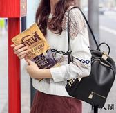 時尚雙肩包女韓版潮百搭背包小軟皮
