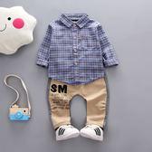 春秋季新款   男童襯衫套裝休閒潮款0-1-2-3-4-5歲兒童裝寶寶衣服