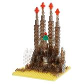 《 Nano Block迷你積木 》聖家堂-Nanoblock十週年版本(透明Ver.)╭★ JOYBUS玩具百貨