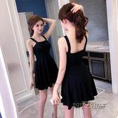 禮服短款小黑裙 新款夏季女裝性感吊帶抹胸露背收腰顯瘦連衣裙