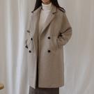 毛呢外套女大衣中長款 赫本風韓版秋冬季呢子加厚學生 萬聖節狂歡價