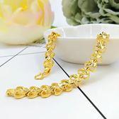 【優選】鍍金手鍊女黃金飾品久不掉色手串純金色首飾
