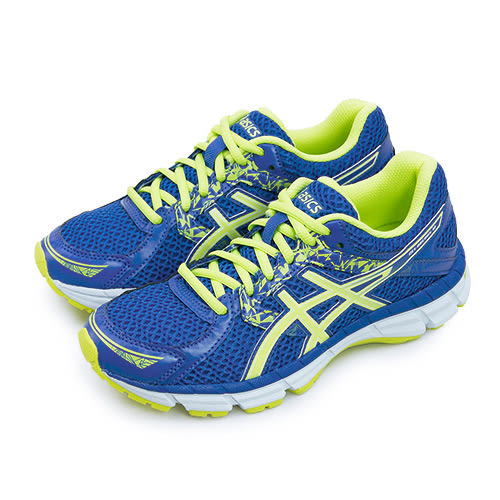 LIKA夢 ASICS亞瑟士 專業慢跑鞋 GEL-OBERON 10 藍螢綠 T5N6N-4885 女