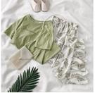 兩件式洋裝 網紅套裝女夏季新款韓版學生寬...