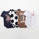 足球短袖包屁衣 世足賽嬰兒兔裝 寶寶童裝...
