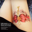 紋身貼紙 半壁防水仿真刺青貼紙 身體彩繪圖案 男女通用貼紙 -媚儷香檳- 【TT011】