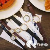 手錶-韓國經典復古森系文藝百搭簡約潮流學生氣質男女情侶方形皮帶手表-奇幻樂園