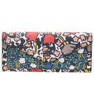 COACH 57680 YANKEE女士花朵印花塗層帆布長款軟長夾錢夾