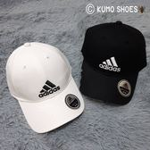 ADIDAS 三線標老帽 黑白 白黑 硬頂 百搭 可調 (s98151 s98150)