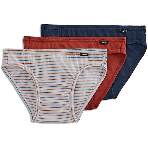 Jockey 創新Elance3件裝內褲(條紋/藍色/酒色)