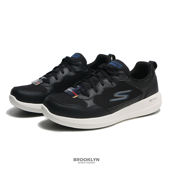 SKECHERS 健走鞋 GO WALK STABILITY 黑白 固特異底 男 (布魯克林) 216143BKBL