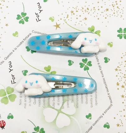 【震撼精品百貨】大耳狗_Cinnamoroll~Sanrio 大耳狗喜拿髮夾-白心#06738