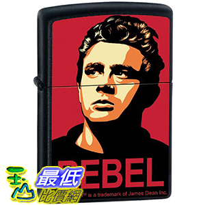 [美國直購] Zippo Custom Lighter - ames Dean Actor REBEL Obey Design - RARE 打火機