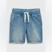 Gap男幼時尚做舊鬆緊腰牛仔短褲541842-淺色水洗