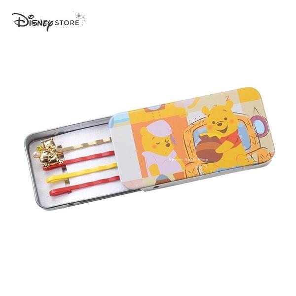 日本限定 DISNEY STORE 迪士尼商店 小熊維尼 POOH'S HOUSE 髮夾盒組