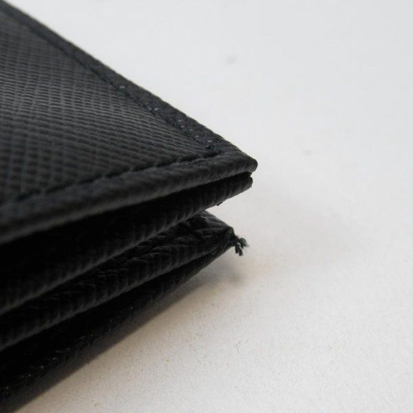 PRADA 普拉達 黑色防刮皮革卡夾 名片夾 Card Case 【二手名牌BRAND OFF】