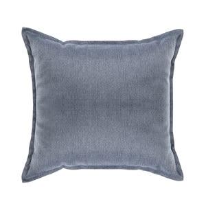 素色織紋抱枕50x50cm靛藍色