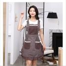 圍裙 買一送一純棉家用廚房圍裙防水雙層做飯防油時尚可愛公主圍腰裙子式【快速出貨八折鉅惠】