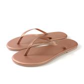 MALVADOS LUX 萊絲系列 夾腳拖 人字拖 拖鞋 雨天 玫瑰金 女鞋 4002-2171 no027