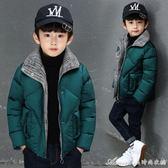 童裝男童冬裝棉衣新款外套金絲絨中大童加厚兒童羽絨棉服棉襖 艾美時尚衣櫥