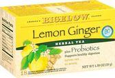 Bigelow含益生菌的花草茶 檸檬薑口味 不含咖啡因 市價399 網路特賣199