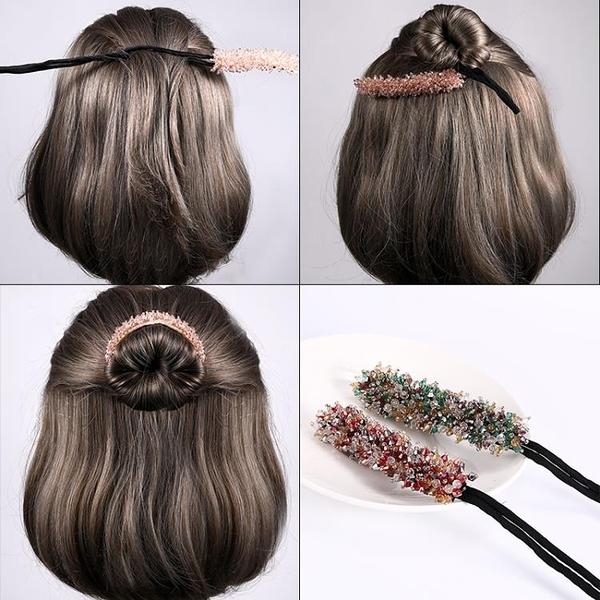 丸子頭盤髮神器髮帶女網紅外出韓國氣質頭飾扎頭髮繩懶人髮簪髮飾 - 風尚3C