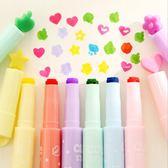 『蕾漫家』【L006】現貨-韓國文具創意多功能糖果色筆頭奇異螢光筆彩色記號筆12色入組