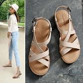 平底涼鞋女夏季軟底百搭學生羅馬鞋女士