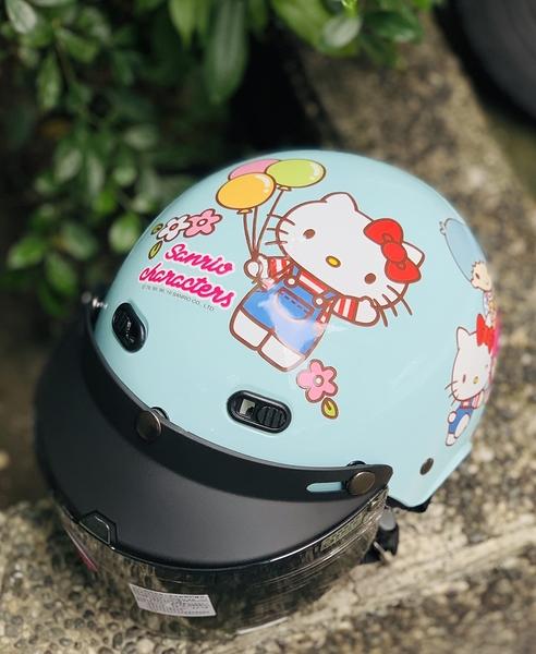 HELLO KITTY安全帽,兒童安全帽,822,823,KT#01/藍,附抗UV-PC安全鏡片