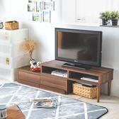 電視系統櫃 電視櫃【I0040】空間創意伸縮式多功能電視櫃  質感胡桃  完美主義