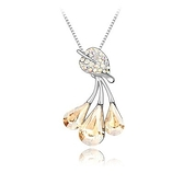 水晶項鍊+925純銀吊墜-耀眼獨特白色情人節生日禮物女飾品2色73bb285【時尚巴黎】