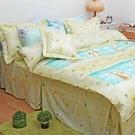 雙人5尺 4件式床包組 床包+薄被套 【...