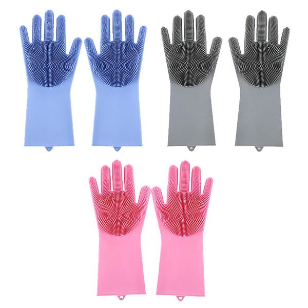 家事達人 萬用隔熱魔法清潔手套刷 手套刷(8入)-多款可選