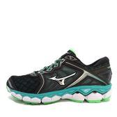 Mizuno Wave Sky [J1GD170206] 美津濃 運動鞋 女 走路 跑步 慢跑  黑  綠