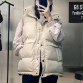 短款面包外套韓版寬鬆冬季2019新款無袖馬夾背心立領羽絨棉馬甲女 米娜小鋪