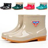 短筒雨鞋女防滑加絨保暖雨靴洗衣廚房鞋洗車勞保成人水鞋618好康又一發