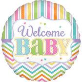 18吋鋁箔氣球(不含氣)-歡迎小寶寶