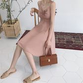 收腰修身小性感吊帶裙露肩心機顯瘦A字女學生 東京衣櫃