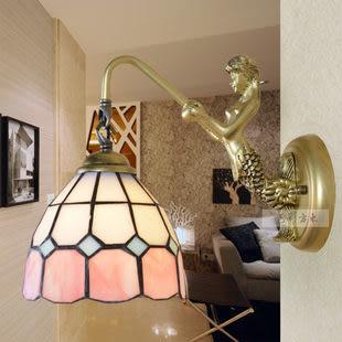 設計師美術精品館歐式地中海美人魚壁燈鏡前燈床頭燈浴室燈過道燈飾燈具064B-6