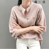 外搭襯衫女長袖寬鬆韓版襯衣Y-4354